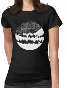 Map Silhouette Circle Womens Fitted T-Shirt
