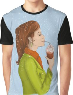 Cacao Girl - Hot chocolate and Coffee Graphic T-Shirt