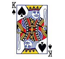 King of spades Photographic Print
