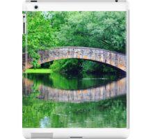Summer landscape with a bridge iPad Case/Skin