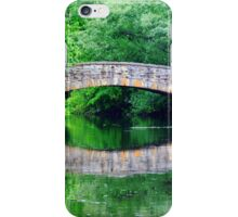 Summer landscape with a bridge iPhone Case/Skin