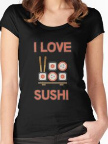 I love sushi Women's Fitted Scoop T-Shirt