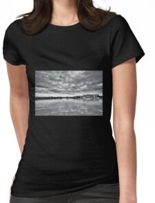 Lyme Regis Harbour - January - Monotone Womens Fitted T-Shirt