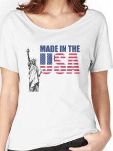 Made in the USA. (United States of America) Women's Relaxed Fit T-Shirt