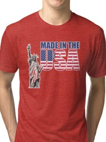 Made in the USA. (United States of America) Tri-blend T-Shirt