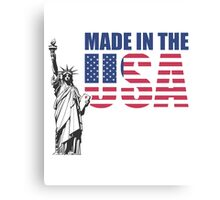 Made in the USA. (United States of America) Canvas Print