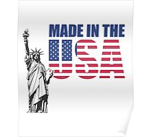 Made in the USA. (United States of America) Poster