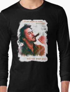 Robert Downey Jr. with cigar, digital painting  Long Sleeve T-Shirt
