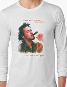 Robert Downey Jr. with cigar, digital painting  Long Sleeve T-Shirt