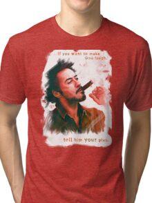 Robert Downey Jr. with cigar, digital painting  Tri-blend T-Shirt