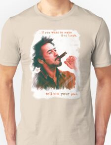 Robert Downey Jr. with cigar, digital painting  T-Shirt