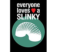 Slinky! [WHITE TEXT] Photographic Print