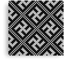 Grandma's Design: knitting pattern #13 Canvas Print