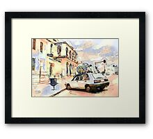 Outside the Warwick Post Office QLD Framed Print