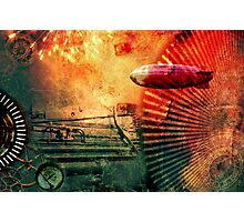 Steampunk style collage Photographic Print