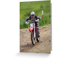 Dirt bike racing Greeting Card