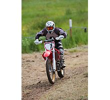Dirt bike racing Photographic Print