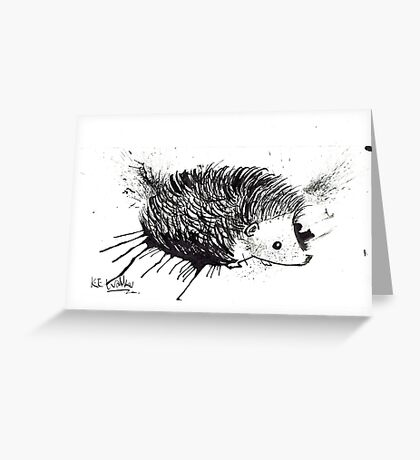 Cute Hedgehog Greeting Card