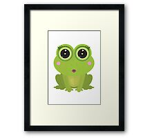 Female Frog Framed Print