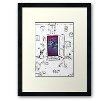 Welcome to the galaxy Framed Print
