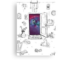 Welcome to the galaxy Canvas Print