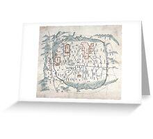 Map of Seoul - 1800 Greeting Card