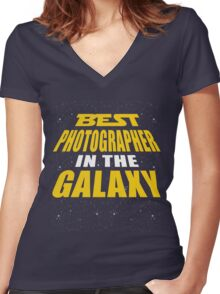 Best Photographer In The Galaxy Women's Fitted V-Neck T-Shirt