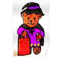 TEDDY BEAR HALLOWEEN WITCH Poster