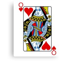 Queen of hearts playing card Canvas Print
