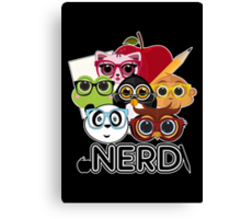 Nerd 3 - Black Canvas Print