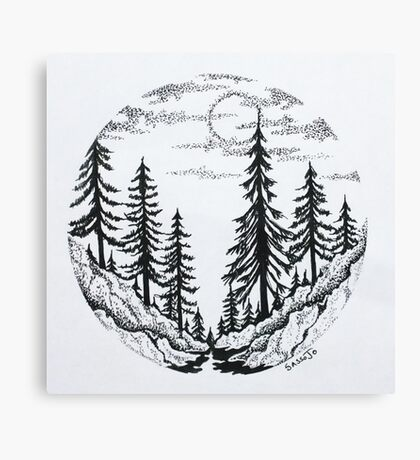 Moon Forest Canvas Print