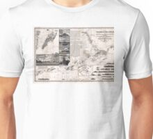 Map of Macao, Hong Kong and Pearl River Estuary - 1834 Unisex T-Shirt