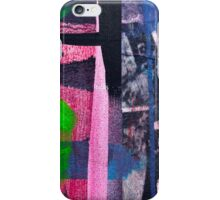 Cool graffiti grunge style details in pink green red and blue iPhone Case/Skin