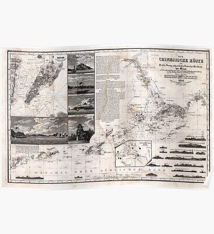 Map of Macao, Hong Kong and Pearl River Estuary - 1834 Poster