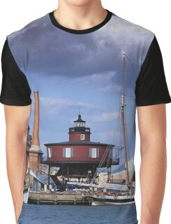 Seven Foot Knoll Lighthouse, Baltimore, Maryland Graphic T-Shirt