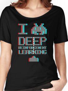 I heart deep reinforcement learning, capital grey (8-bit 3D) Women's Relaxed Fit T-Shirt
