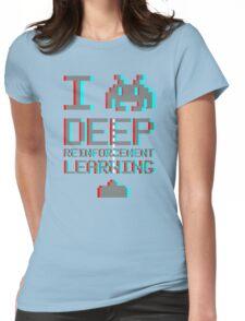 I heart deep reinforcement learning, capital grey (8-bit 3D) Womens Fitted T-Shirt