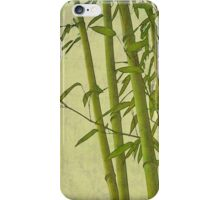 Zen bamboo abstract pattern with retro grunge feel iPhone Case/Skin
