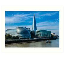 The Shard, City Hall and More London Art Print