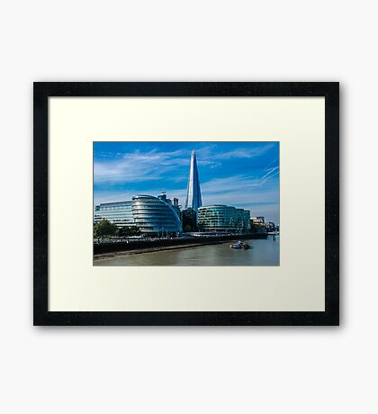 The Shard, City Hall and More London Framed Print