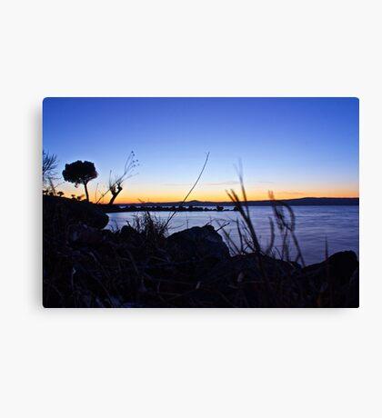 Magic Lake Sunset Canvas Print