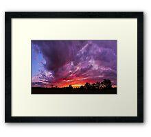 Epic Midwest Sunset and Stormy Sky Framed Print