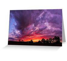 Epic Midwest Sunset and Stormy Sky Greeting Card