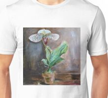 Lady Slipper Orchid Flower in Pot Unisex T-Shirt