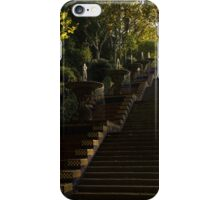 Blue and Yellow Cascade - Montjuic Park, Barcelona, Spain iPhone Case/Skin