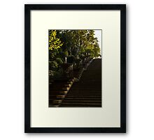Joyful Blue and Yellow Cascade - Montjuic Park, Barcelona, Spain Framed Print