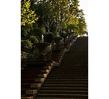 Blue and Yellow Cascade - Montjuic Park, Barcelona, Spain Photographic Print