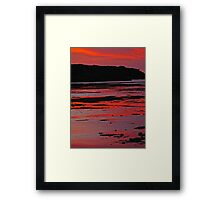 Bathed in sunset red Framed Print