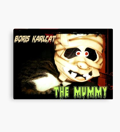 Boris Karlcat in the Halloween classic 'The Mummy' Canvas Print