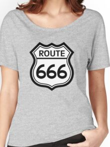 Route 666 road sign (route 66) Women's Relaxed Fit T-Shirt